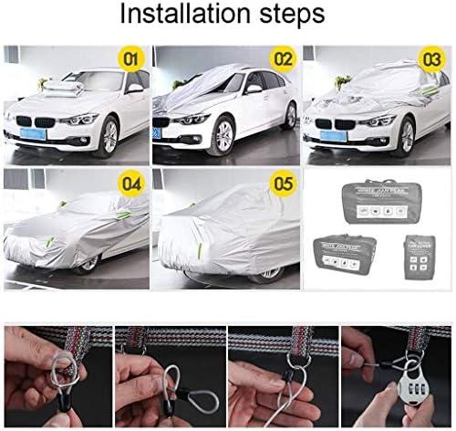 車体カバー フォード・フィエスタフォーカスフォーカスCC Fusionの防水カーカバー全外部との互換性は防水/Snowproof/Sunproof/防塵/耐スクラッチ/太いオックスフォード生地をカバー (Color : Built-in lint, Size : Focus Hatchback)