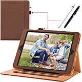 iPad 9.7 Case iPad 2018 2017 6th 5th Generation Leather Case Cover Corner Protection - Stand Folio Cover Case with Pencil Holder and Auto Wake Sleep for Apple iPad 9.7 inch - iPad Air 2 iPad Air - Brown