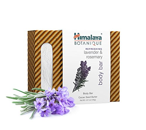 Himalaya Botanique Lavender & Rosemary Handcrafted Bar Soap, Free-from Parabens, SLS, Phthalates, Artificial Colors and Artificial Fragrances, 4.41 oz (125 g) 1 PACK