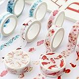 Culturemart 15mmx7m Pink Fall Unicorn Paper Cute