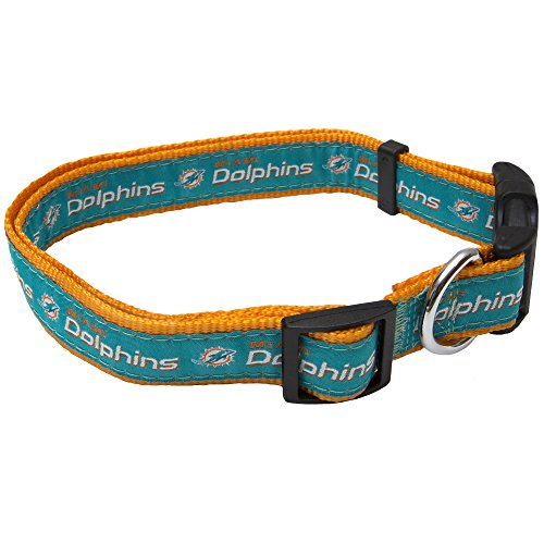 Pets First NFL Miami Dolphins Pet Collar, Large