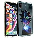 iPhone XR TPU Case CASEVEREST 3D Print Design Slim Fit Cover Morty and Rick Cartoon Spaceship