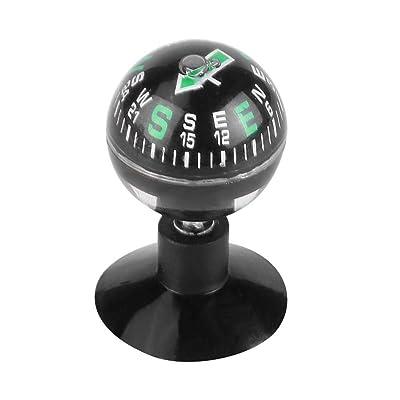 Mini Portable Compass, Car Boat Mini Dashboard Suction Compass Mount, Navigation Compass Pocket Hiking Direction Guide Ball, Car Compass Navigation: Automotive