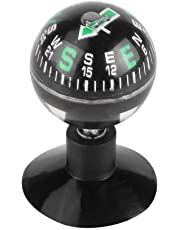 Portable Car Universal Compass Ball Thermometer Dashboard Ornament 1x