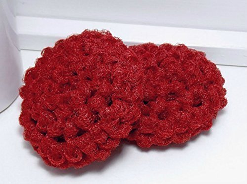 Amazon Red Reusable Dish Scrubbies Set Of 2 Handmade