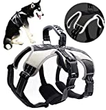 Mihachi Secure Dog Harness - Escape-Proof Reflective Dogs Vest with Lift Handle for Training Outdoor Adventures,Medium (21'-26')