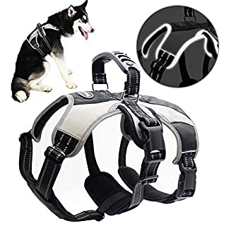 """Mihachi Secure Dog Harness - Escape-Proof Reflective Dogs Vest with Lift Handle for Training Outdoor Adventures,Medium (21""""-26"""")"""