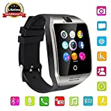 Touch Screen Bluetooth Smart Watch with Camera, Unlocked Watch Cell phone for Android/IOS/ Samsung /iPhone/ Huawei/HTC/ Sony/Nexus (Silver&black)
