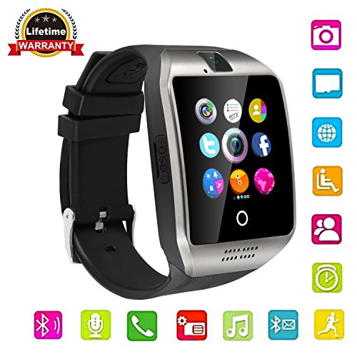 Touch Screen Bluetooth Smart Watch With Camera  Unlocked Watch Cell Phone For Android Ios  Samsung  Iphone  Huawei Htc  Sony Nexus  Silver Black