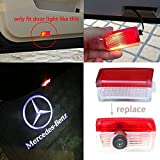 LIGHTUPRO 2 pcs LED Logo Projector for Mercedes Benz Courtesy Lamp Door Step Welcome Light Ghost Shadow … (No outer ring)
