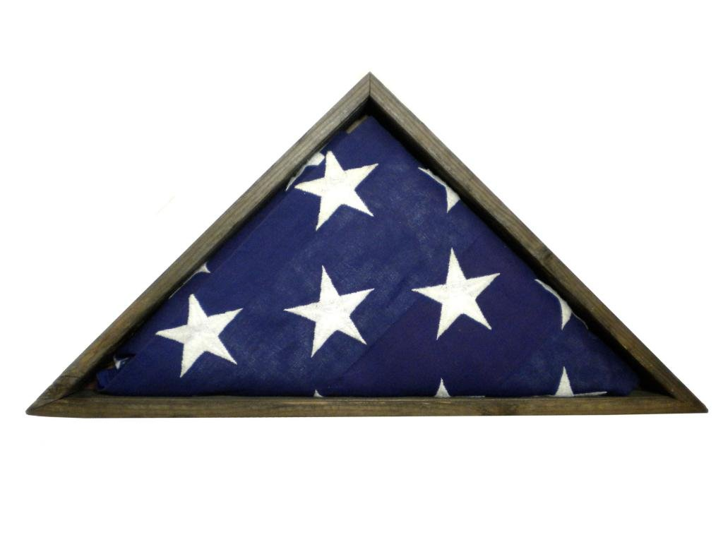 Unique Old Fence Slat Wood Flag Display Case for 5x9.5' Veteran Memorial Flag, MADE IN AMERICA
