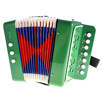 PowerTRC Children's Accordion | Musical Instrument | Easy to Learn Music | Kids Instrument | Green: Toys & Games