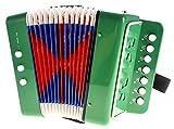 PowerTRC Children's Musical Instrument Accordion (Green)