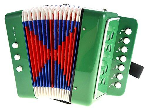 PowerTRC Children's Musical Instrument Accordion (Green) -