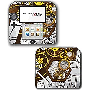 Art Abstract Steampunk Gear Machine Video Game Vinyl Decal Skin Sticker Cover for Nintendo 2DS System Console