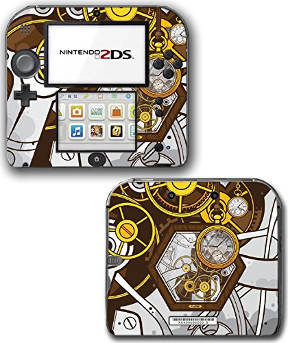 Art Abstract Steampunk Gear Machine Video Game Vinyl Decal Skin Sticker Cover for Nintendo 2DS System Console 3