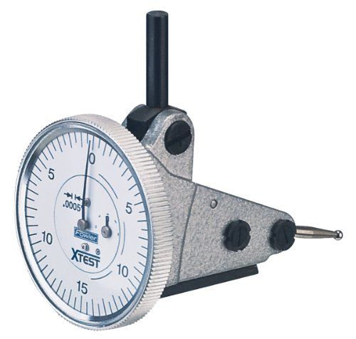 Fowler 52-562-004 Vertical White Dial X-Test Indicator, 0.0005