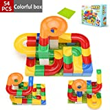 CAIDU Run Toy 54 Pcs Game STEM Learning Toy, Educational Construction Building Blocks Toy, Set Gift for Kids 3 4 5+ Year Old Boys Girls