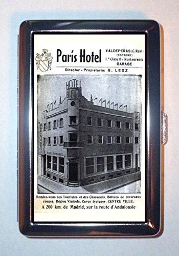 Paris France Hotel c1900 Elegant Retro Ad: ID Wallet or Cigarette Case USA Made