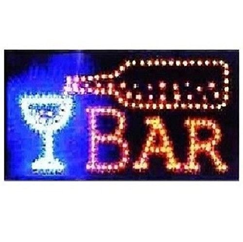unbrand Animated Motion LED Restaurant Cafe Bar Club Sign +On/Off Switch Open Light Neon