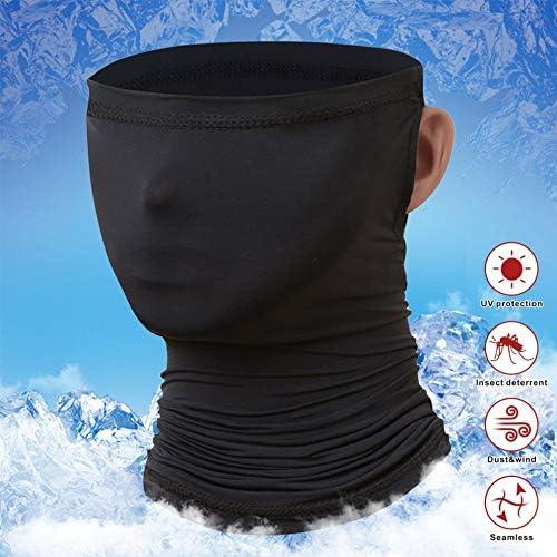 Idefair - Polainas para el cuello, protección UV, protección UV, unisex, protección contra el viento, bufanda, protector solar, transpirable, pañuelo para el cuello, para ciclismo, senderismo, motos y