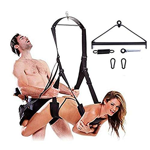 ErosMaster 360 Degree Spinning Indoor Swing š&êx with Steel Triangle Frame and Spring Support 800 lbs, Black (Black) by ErosMaster