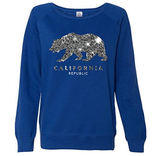 Top Dolphin Shirt Co California Republic Sparkle Ladies Lightweight Fitted Crewneck for cheap