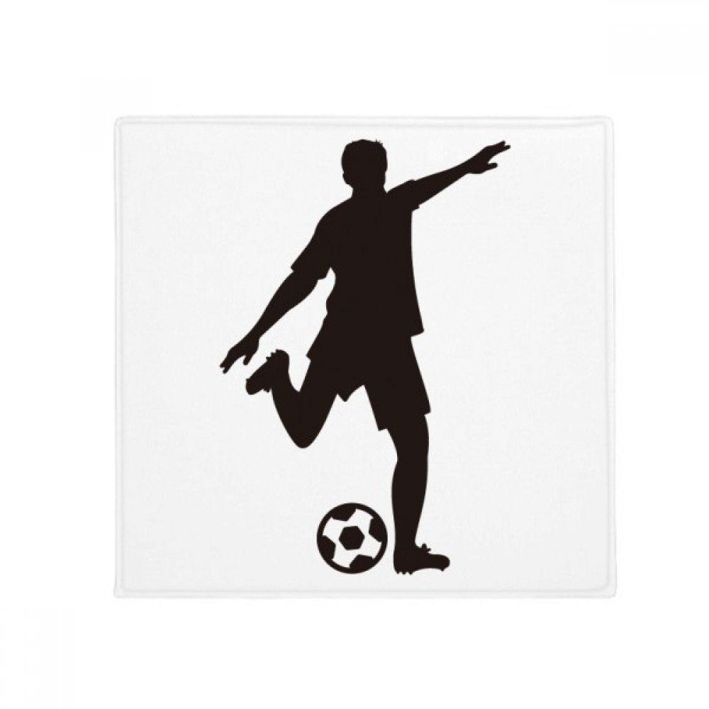 DIYthinker Football Soccer Silhouette Sports Anti-Slip Floor Pet Mat Square Home Kitchen Door 80Cm Gift