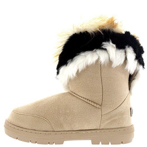 Winter Korte Kousen Winter Koud Weer Sneeuw Regen Laarzen Beige