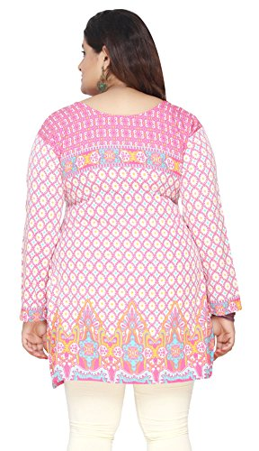 077ad0172ad Maple Clothing Women's Plus Size Indian Kurtis Tunic Top Printed India  Clothes