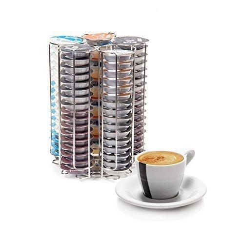 Neotechs Tassimo Revolving 5 Column 80 PC Coffee Pod T-DISC Capsule Holder Dispenser Chrome Bosch B0171VAW9O