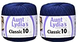 Aunt Lydia's Crochet Thread - Size 10 - Navy (2-Pack): more info