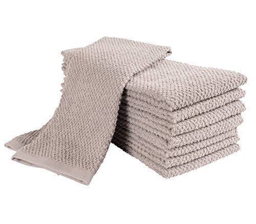 KAF Home Pantry Montclair Kitchen Towels (Set of 8, 16x26 inches), 100% Cotton, Ultra Absorbent Terry Towels - Drizzle by KAF Home (Image #6)