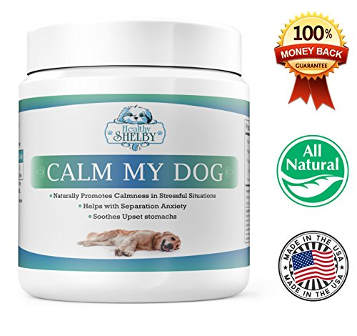 Calm My Dog, All Natural Calming Treats For Dogs, Dog Anxiety Relief, Helps With Motion Sickness, Storms, Fireworks And Dog Separation Anxiety, Stress Relief For Dogs, Made In The USA, 100 Chews