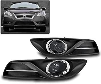 LOWER BUMPER CHROME DRIVING FOG LIGHTS LAMPS W//BULBS+SWITCH FOR 2016-2017 SENTRA