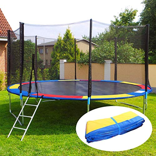 ANCHEER 15 14 12 10 Ft Replacement Trampoline Surround PVC Pad Foam Safety Spring Cover Padding Pads (Rainbow, 10ft) by ANCHEER (Image #2)