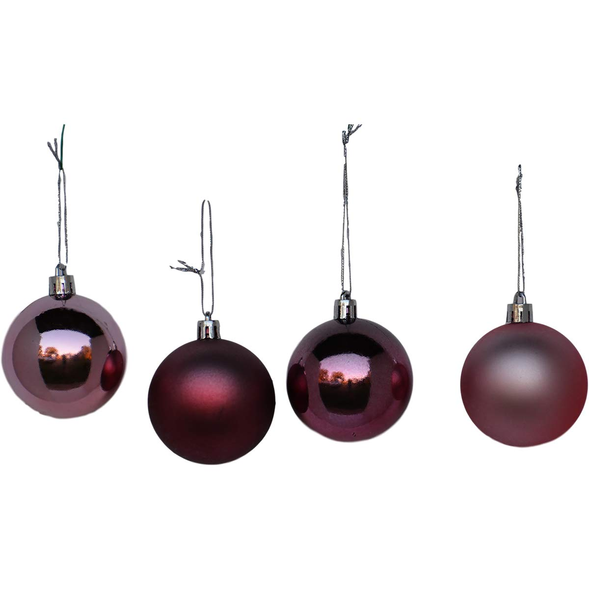 Rose Gold Christmas Balls Ornaments Pack Of 30 Premium Quality Shatterproof