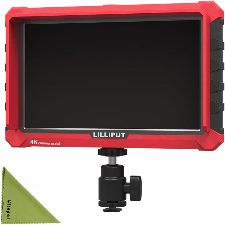 Lilliput A8S Monitor,8.9 Inch 8-bit IPS Screen Camcorder Assist,Monitor,Full HD 1920x1200 Camera Video Monitor Display Support 4K HDMI for DSLR Cameras