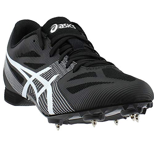ASICS Men's Hyper MD 6 Track and Field Shoe (7 M US, Black/White/Midnight) (Best Track Shoes For Mid Distance)