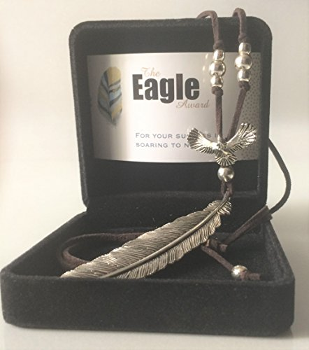 Smiling Wisdom - Eagle Soaring to New Heights Award - Business Employee Morale Award - Appreciation Gift for Employees, Students, Mentees, Leaders - Limited Edition