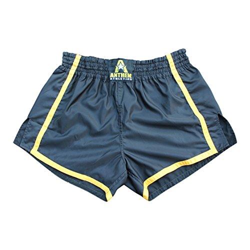NEW! Anthem Athletics RESOLUTE Muay Thai Shorts - Kickboxing, Thai Boxing - Black & Yellow - Large