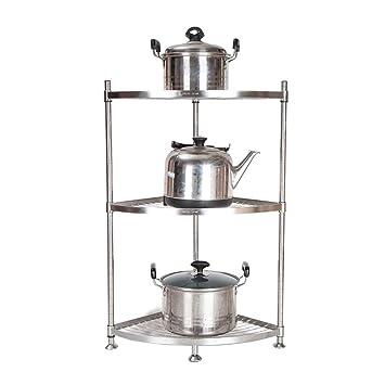 JANSUDY Estantes De Cocina De Acero Inoxidable Los Estantes Para Macetas Multicapas De Pie Pueden Almacenar Sartenes/Vaporeras: Amazon.es: Hogar