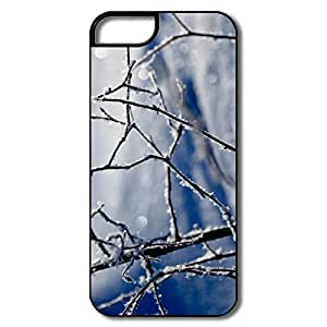 IPhone 5 5S Cases, Winter Twigs White/black Covers For IPhone 5/5S