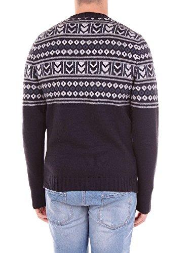 Uomo Mainapps Woolrich Fantasia Blu Maglia 7A8nBx