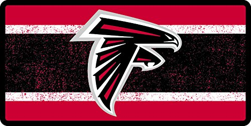 - Atlanta Falcons VINTAGE Style Deluxe Acrylic Laser Cut Mirrored License Plate Tag Football