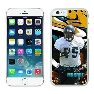 Jacksonville Jaguars Eugene Monroe Case For iPhone 6 Plus White 5.5 inches