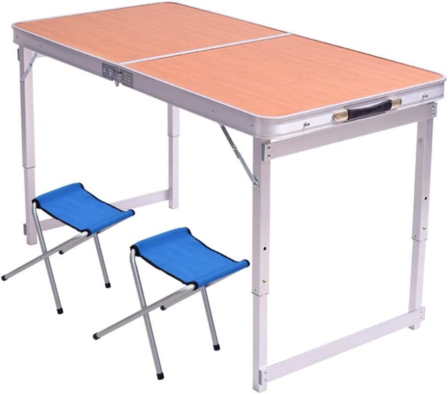 Snelle Express Tafel Klaptafel Met 2 Stoelen Aluminium Snacktafel, Bank Eenvoudige Eettafel, Drie Niveaus Van Vrij Verstelbare Hoogte Picknicktafels (Color : Style3) Style1 0C2M7lO