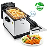 Aicok Deep Fryer with Dual Temperature & Timer Controls, 3 Liter...