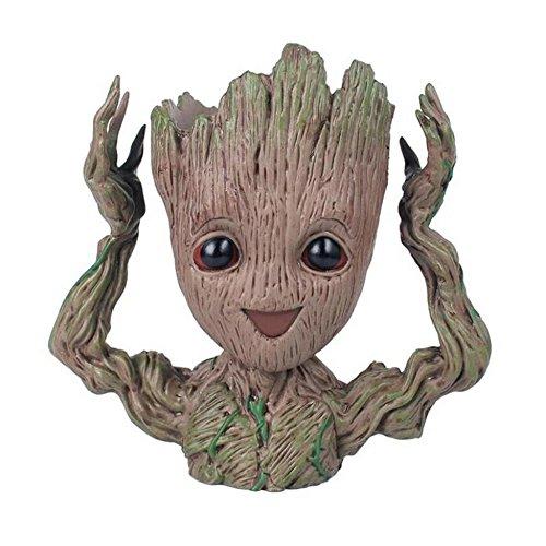 Zerhhoa Groot Action Figures Guardians of The Galaxy Flowerpot Baby Cute Model Toy Pen Pot Best Gifts 6.3in