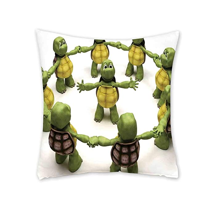 Amazon.com: Reptile Soft Square Pillowcase,Ninja Turtles ...
